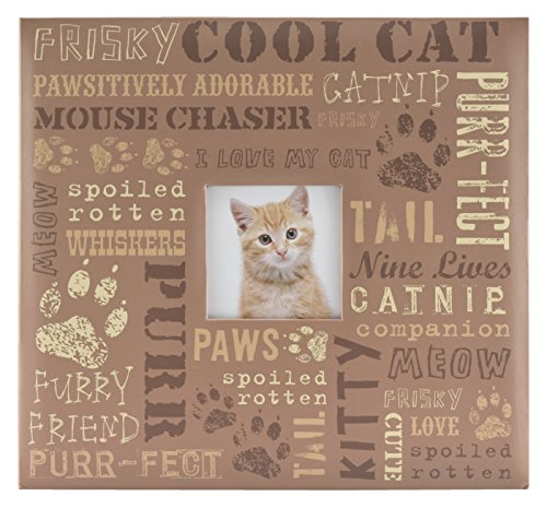 MCS MBI 13.5x12.5 Inch Cool Cat Pet Theme Scrapbook Album with 12x12 Inch Pages with Photo Opening (860124) (Page Theme Scrapbook)