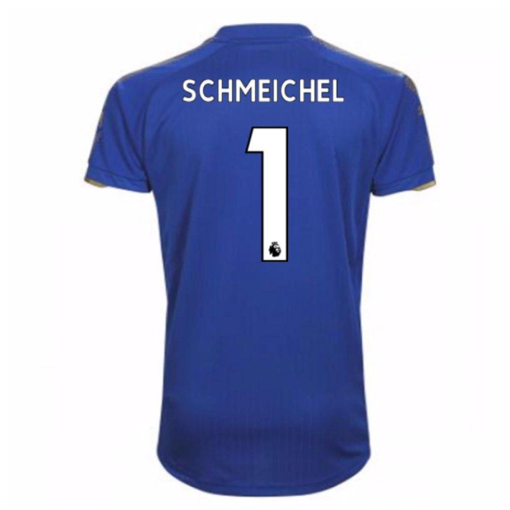 2017-18 Leicester City Home Football Soccer T-Shirt Trikot (Kasper Schmeichel 1) - Kids