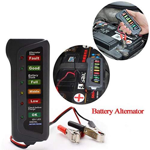 (Clearance Sale!DEESEE(TM)12V Car Digital Battery Alternator Tester 6 LED Lights Display Diagnostic Tool)