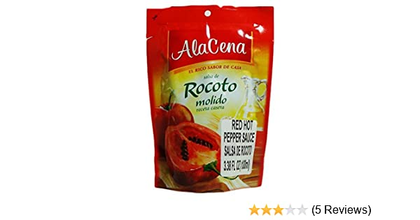 Amazon.com : AlaCena Salsa de Rocoto Molido Red Hot Pepper Sauce 100 ML. : Grocery & Gourmet Food