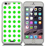 CocoZ® New Apple iPhone 6 s 4.7-inch Case Beautiful green Polka Dot pattern TPU Material Case (Transparent TPU & Polka Dot 21)