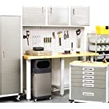 WallPeg 12 sq ft Workbench Pegboard Organizer Kit with Locking Peg Hooks AM 24243W by USA PEG