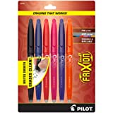 Pilot FriXion Ball Erasable Gel Pens Fine Point (.7) Assorted Colors 6-pk Black/Blue/Red/Pink/Orange/Purple ; Make Mistakes Disappear, No Need For White Out with America's #1 Selling Pen Brand