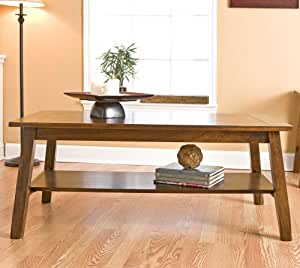 Southern Enterprises Rustic Plank Coffee Table in Brown