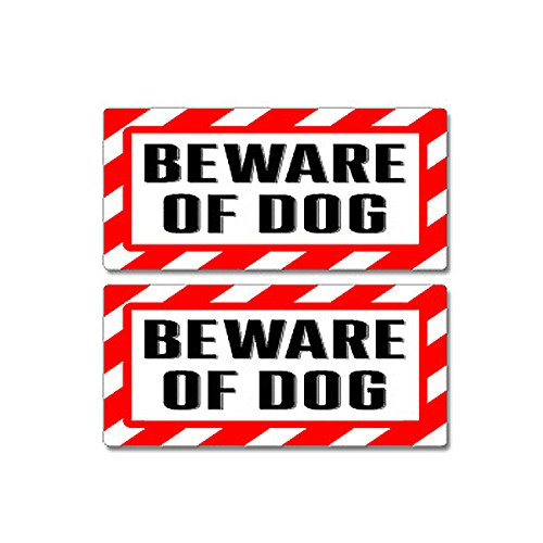 Beware Dog Sign Business Stickers