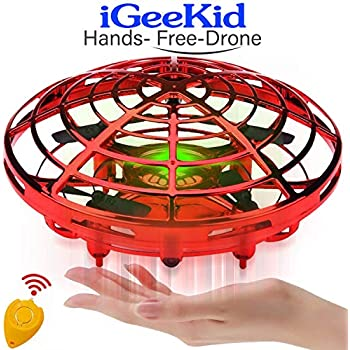 [Auto-Avoid Obstacles] Flying Ball, Hand Operated Mini Drones for Kids or Adults, Flying RC Drone Quadcopter Beginners 2 Speed 360°Rotating Magic Led Light ...