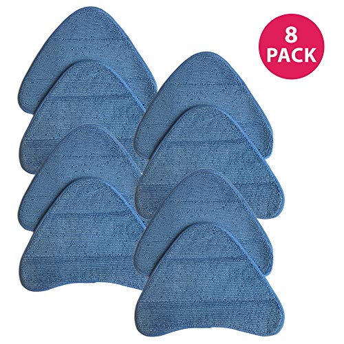 Crucial Vacuum Replacement Mop Pads Part # WH01000 - Compatible with Hoover - Fits Hoover Steam Pads Fit WH20200, WH20300 Steam Mops - Washable, Reusable Part, Models for Home, Office Use (8 Pack)
