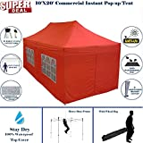 Cheap 10'x20′ Pop Up Canopy Wedding Party Tent Instant EZ UP Canopy RED – F Model Commercial Frame By DELTA