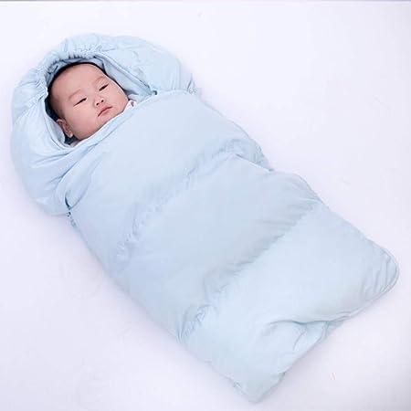 nohbi Manta de Invierno para Bebé Recién,Saco de Dormir Grueso para bebé, Saco de Dormir cálido con Cochecito Antideslizante, Azul_L-45 * 90cm,Unisex Saquito Bebe: Amazon.es: Hogar