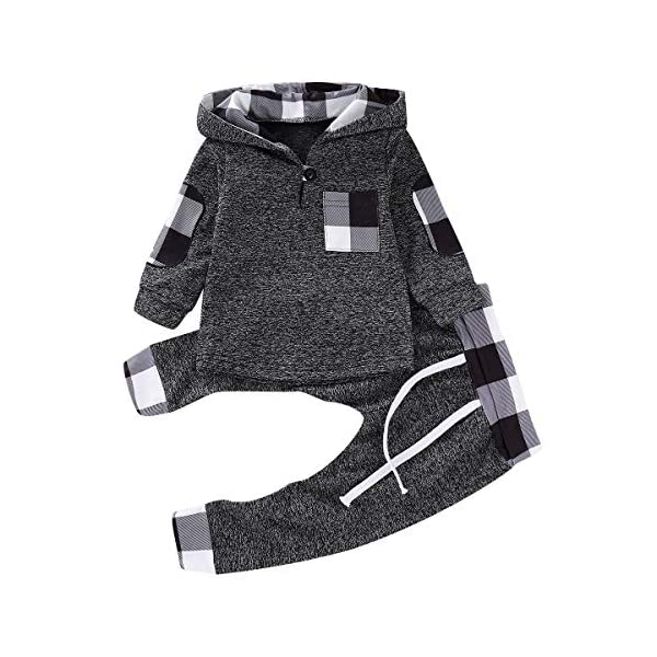 Kerrian Online Fashions 51mwUy4odML CETEPY Newborn Baby Boy Clothes Outfits Infant Long Sleeve Hoodie + Pants 0-36 Months
