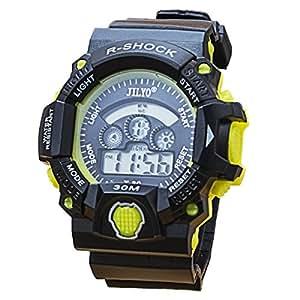 Reloj de cuarzo casual de moda para hombre,Reloj de señoraReloj luminoso cristalino de la moda,Reloj digital militar duradero para niños