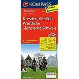 Dresden - Meißen - Westliche Sächsische Schweiz: Fahrradkarte. GPS-genau. 1:70000 (KOMPASS-Fahrradkarten Deutschland, Band 3085)