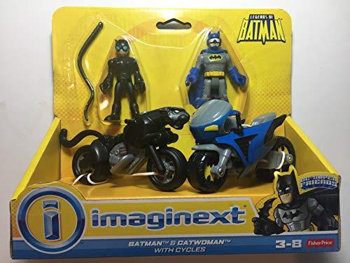 Fisher-Price Imaginext  DC Super Friends Exclusive Gotham City Batman, Catwoman Cycles, Multi Color
