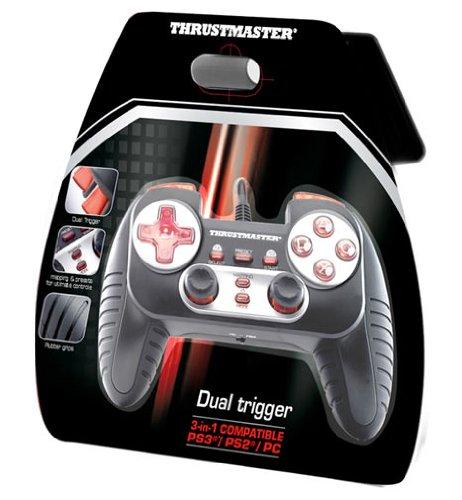 ThrustMaster Dual Trigger 3 in 1 - Volante/mando (Gamepad, PC, Playstation 2, Playstation 3, Alámbrico): Amazon.es: Informática