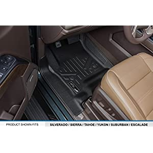 MAX LINER A0136/B0136 for Crew Cab 2014-2018 Silverado/Sierra 1500-2015-2019 2500/3500 HD, Black