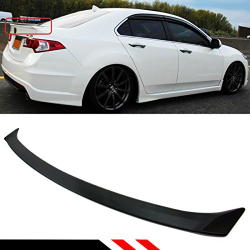 (Cuztom Tuning Fits for 2009-2014 Acura TSX Euro R(Accord) Sport Style Flush Fit Rear Trunk Deck Lid Spoiler Wing )