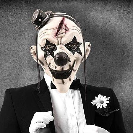 MSSJ Máscara de Payaso Látex Adulto Cabello Blanco Máscara de ...