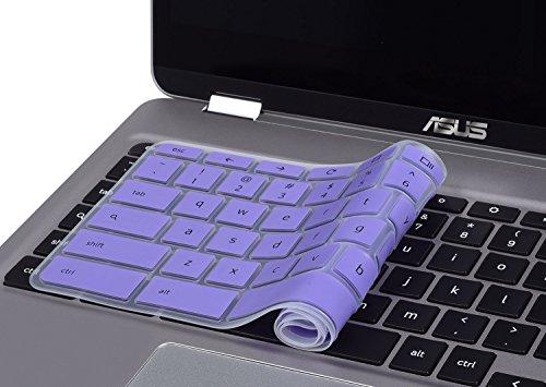 CaseBuy-Ultra-Thin-Keyboard-Cover-for-ASUS-Chromebook-Flip-C302-C302CA-DHM4-125-inch-Chromebook-Purple