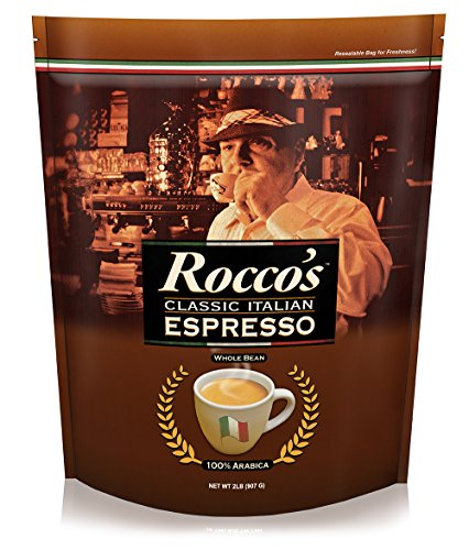 Espresso Bittersweet Chocolate - Cafe Don Pablo - Rocco's Classic Italian Espresso - Medium Roast Whole Bean Arabica Coffee - 2 LB Bag