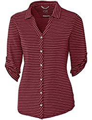 Cutter & Buck LCK00023 Ladies E/S Academy Stripe Shirt