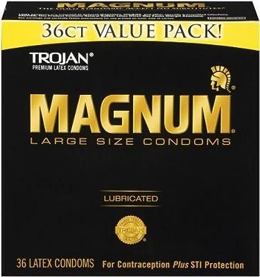 Trojan Condom Magnum Lubricated, 144 Count Pack (dfw4fh)