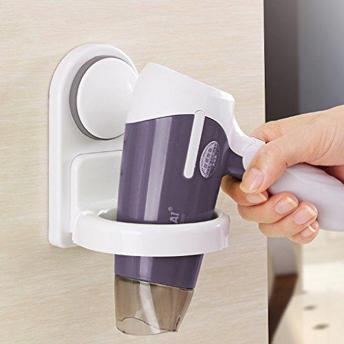 LIMING Accesorios del Cuarto de baño del secador de Pelo de la Pared de la succión convenientes para el Sitio de la Ducha del Hotel de la peluquería etc.
