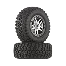 Traxxas 6873 B.F. Goodrich Mud Terrain T/A KM2 Tires on Chrome Slash Wheels, 4 x 4