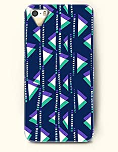 OOFIT Aztec Indian Chevron Zigzag Native American Pattern Hard Case for Apple iPhone 5 5S ( iPhone 5C Excluded ) Dark Blue Tribe Triangles Pattern