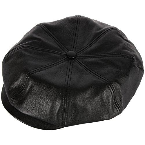 (RaOn N18 Men's Fashion Basic Eight Panel Gatsby Style Ivy Cap Ascot Newsboy Beret Hat (Leather))
