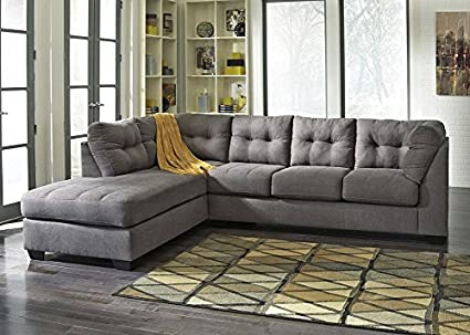 Astonishing Amazon Com The Roomplace Marlo Charcoal 2 Pc Sectional Theyellowbook Wood Chair Design Ideas Theyellowbookinfo