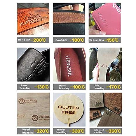 YUNSHINE Multi-Function Digital 110V Foil Hot Stamping Machine Logo Embossing Brass Alphabets Letters Label Bronzing Machine Leather Wood Stamp Embosser Tool Set Numbers 0~9