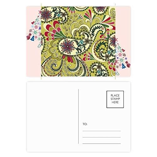 Tarjeta de agradecimiento con diseño de pavo real y plumas, diseño abstracto de árbol de Navidad, 20 unidades