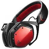 V-MODA Crossfade Wireless Over-Ear Noise Isolating Headphones, Rouge