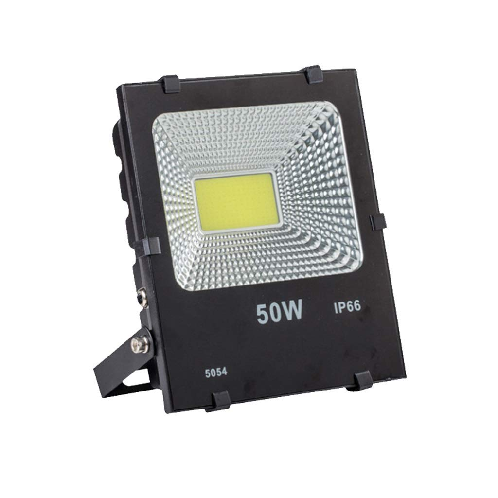 WKZ LED Proiettore Esterno,Faretto Floodlight Bianco Security Lamp IP66 Impermeabile Factory Building (colore   50W)