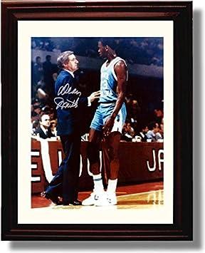 Framed North Carolina Tarheels – Dean Smith Michael Jordan Autograph Print