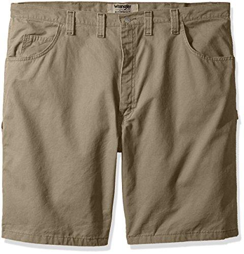 Wrangler Authentics Mens Big and Tall Authentics Classic Carpenter Short, Military Khaki, 44