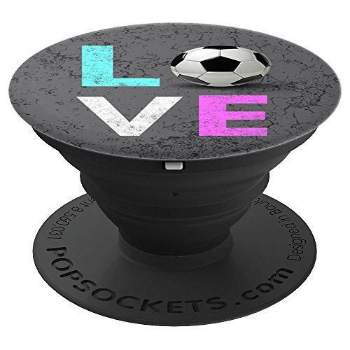 Girls & Women Love Soccer & Football Birthday Gift - PopSockets Grip and Stand for Phones and Tablets