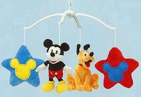Disney Baby Mickey Mouse y Minnie Mouse cuna móvil Musical: Amazon ...