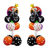 Skull Table Centerpiece Balloon Stand Kit Halloween Decorations for Home Party