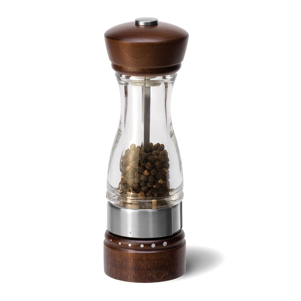 COLE & MASON Keswick Wood Pepper Grinder - Wooden Mill Includes Gourmet Precision Mechanism and Premium Peppercorns H12301G
