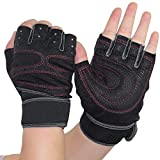 Fanala Half Finger Gym Cycling Bike Bicycle Shockproof 2pcs Sports Gloves Black