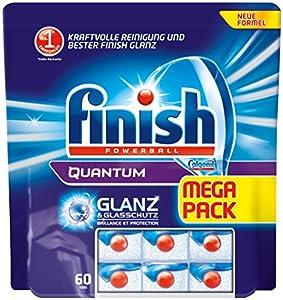 Finish/Calgonit Quantum mit Glanz- & Glasschutz, Spülmaschinentabs, 60 Tabs