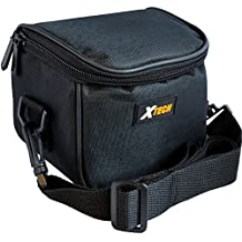 Well Padded Digital Camera Carrying Case with Front Pocket & Neck Strap for Canon Powershot SX10IS, SX20IS, SX30IS, SX40 HS, SX50 HS, SX500 IS & SX510 HS Digital Cameras