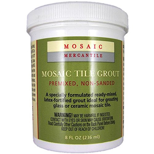 Mosaic Mercantile Premix Grout, 8-ounce, White (Premix Grout)