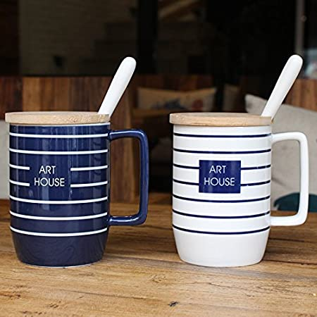 Minimalista Europea Mugcap tazas de Taza de cerámica con ...