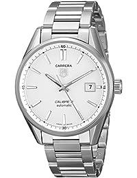 Tag Heuer Men's WAR211B.BA0782 Carrera Analog Display Swiss Automatic Silver Watch