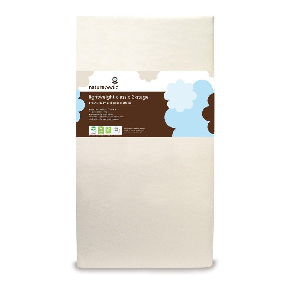 28 x 52 x 6 Naturepedic No Compromise Organic Cotton Classic Lightweight Crib Mattress