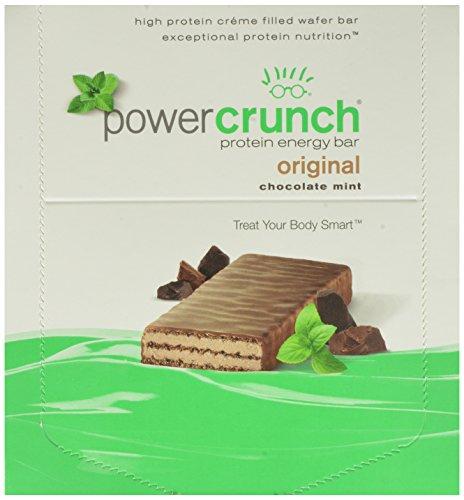 Puissance Crunch Protein Bar énergie, chocolat à la menthe, bars 1,4 onces, 12 comte