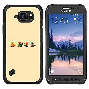Smartphone duro PC Carcasa Funda protectora para Samsung Galaxy S6Active Active G890A/Phone Case TECELL Store/Cute Poke Monster Cartoon Illustration