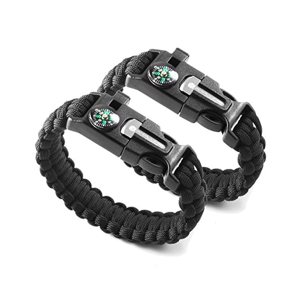 X Plore Gear Emergency Paracord Bracelets Set Of 2 The Ultimate